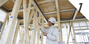 鉄と木の複合梁テクノビームを採用したパナソニックの耐震住宅工法